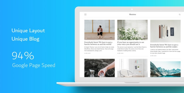 Maxima - Minimal Blog and Magazine Ghost CMS Theme - Ghost Themes Blogging