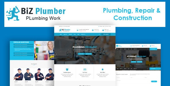 Biz - Construction and Plumber HTML Template - Business Corporate