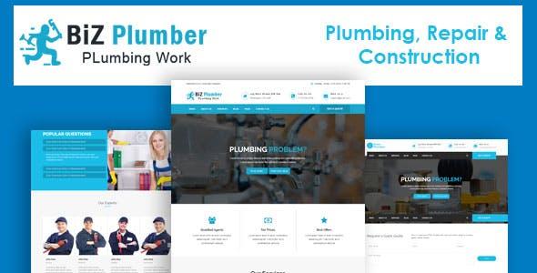 Biz - Construction and Plumber HTML Template