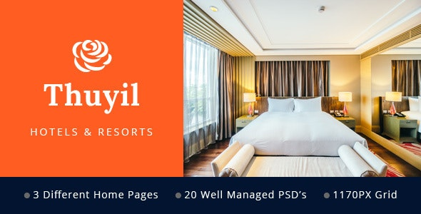 Thuyil - Hotel and Resort PSD web template - Business Corporate