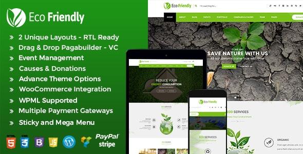 Eco Friendly Environmental WordPress - Eco Nature NGO Theme - Environmental Nonprofit
