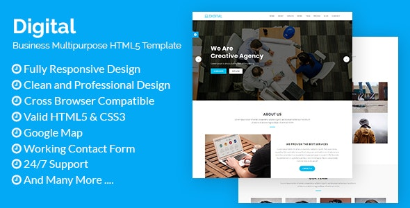 Digital - Business Multipurpose HTML5 Template - Technology Site Templates