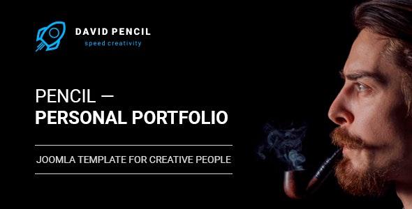 Pencil — Personal Portfolio and One Page Resume, Responsive Joomla Template - Personal Blog / Magazine