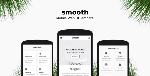 Smooth | Mobile Web UI Template - Mobile Site Templates