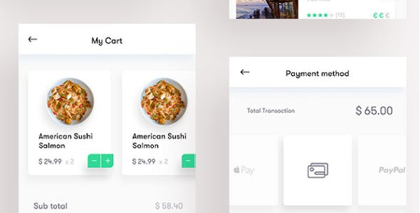 Food Sketch App Templates from ThemeForest