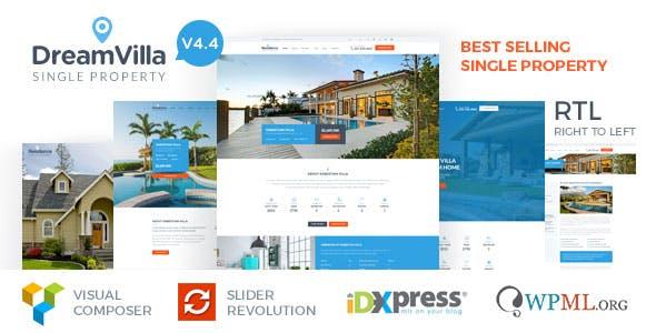 DreamVilla - Single Property Real Estate WordPress Theme