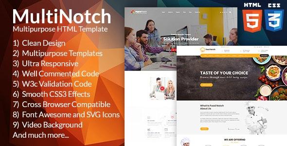 Notch Multipurpose HTML Template; Creative, Modern & Functional - Site Templates
