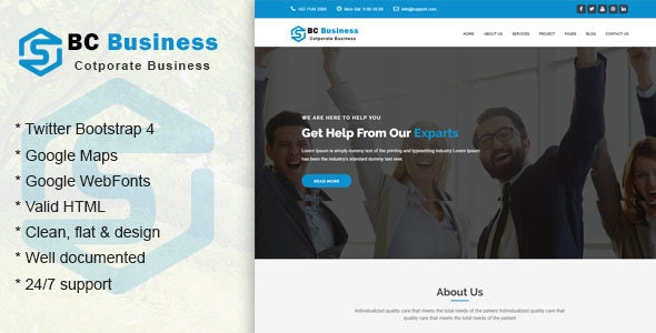 Bccop || Corporate and Business Template - Business Corporate