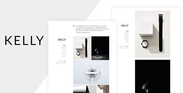Kelly - Minimal Portfolio & Blog HTML - Portfolio Creative