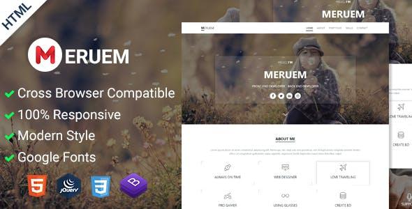 Meruem   Personal Portfolio HTML5 Template