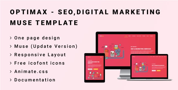 OPTIMAX - Seo,Digital Marketing Muse Template - Corporate Muse Templates