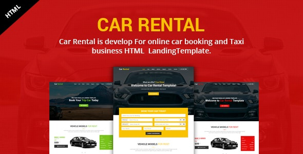 Car Rental Landing HTML Template - Business Corporate