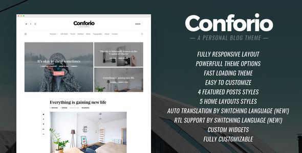 Conforio - A Personal Blogger Blog Theme - Blogger Blogging