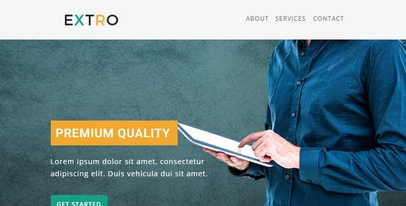 Extro - Multipurpose Responsive Email Template With Online StampReady Builder Access
