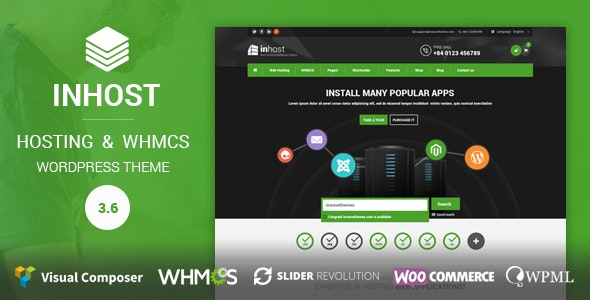 InHost | WHMCS Integration WordPress Theme - Hosting Technology