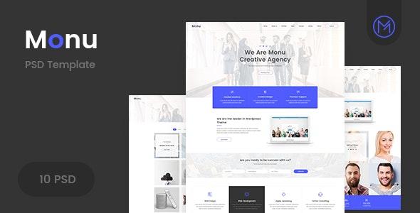 Monu | Agency & Business PSD Template - Business Corporate