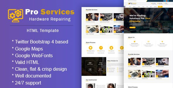 Pro Services - Repair Responsive HTML 5 Template