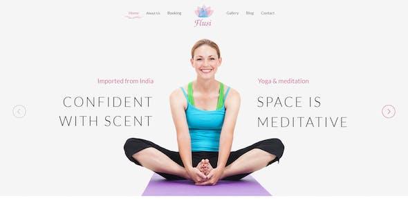 Flusi - Yoga Studio and Spa Beauty PSD Template
