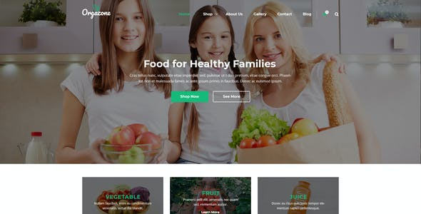 Orgazone | Responsive Organic Store & Farm PSD Template