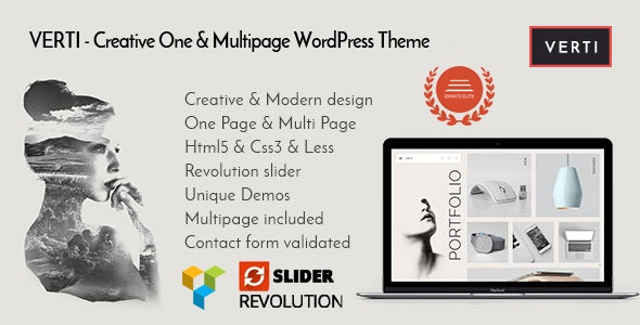 Verti - Creative OnePage & MultiPage WordPress Theme - Creative WordPress