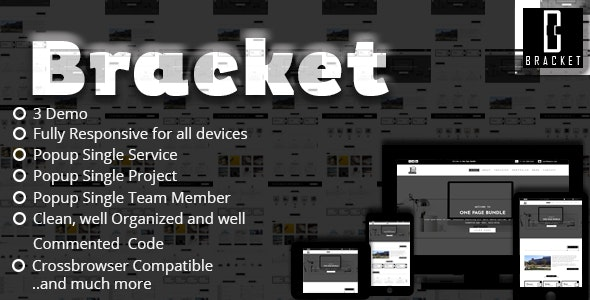 Bracket - Multipurpose One Page HTML5 Template - Corporate Site Templates