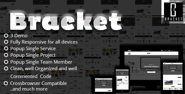 Bracket - Multipurpose One Page HTML5 Template