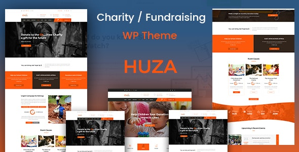 Huza - Charity Responsive WordPress Theme - Charity Nonprofit