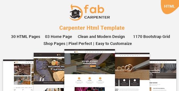 Fab Carpenter | Carpenter, Wood Carpentry HTML5 Template - Business Corporate
