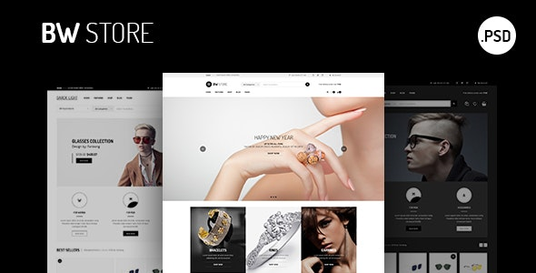 BW Store - eCommerce for Fashion, Jewelry, watch Html Template - Retail Site Templates