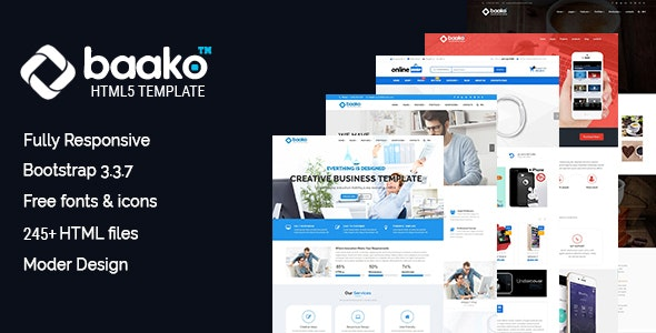 Baako - Responsive HTML5 Template - Business Corporate
