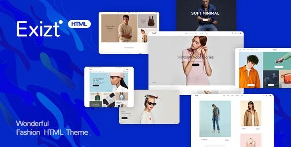 Exist - Wonderful Fashion HTML  Template - Fashion Retail