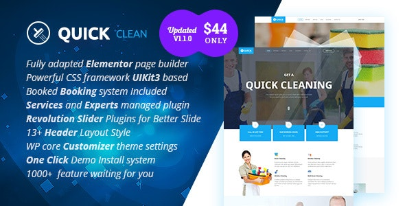 Quick - Cleaning Service WordPress Theme - Business Corporate