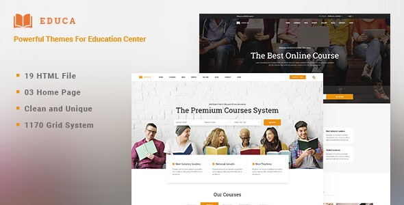 EDUCA | Multiconcept Education & Courses HTML Template - Business Corporate