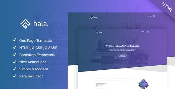 Hala - Multi-purpose Responsive One Page Template - Creative Site Templates