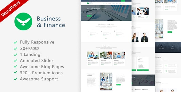 Proffs - Business and Finance WordPress Theme - Business Corporate