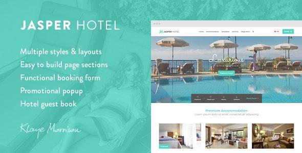 Jasper Hotel - Website Template - Travel Retail