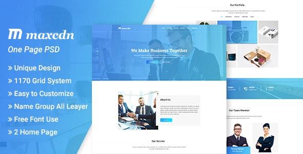 Maxcdn  PSD Template - Corporate Photoshop