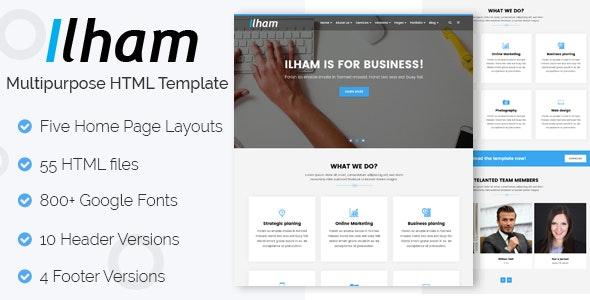 ILHAM - Multi-purpose HTML Template - Corporate Site Templates