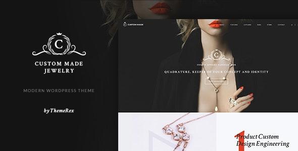 Custom Made | Jewelry Manufacturer and Store WordPress Theme - Shopping Retail