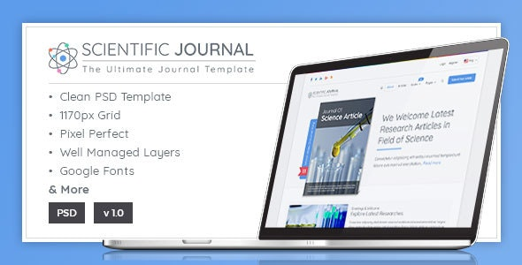 Research and Science - Scientific Journal Template - Corporate Photoshop