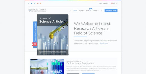 Research And Science Scientific Journal Template