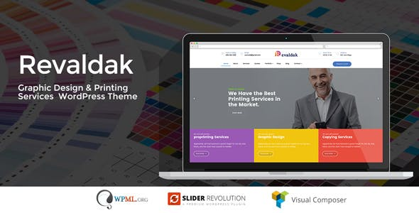 Revaldak - Printshop & Graphic Design Services WordPress Theme