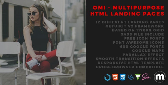 Omi - Multipurpose HTML Landing Pages - Landing Pages Marketing