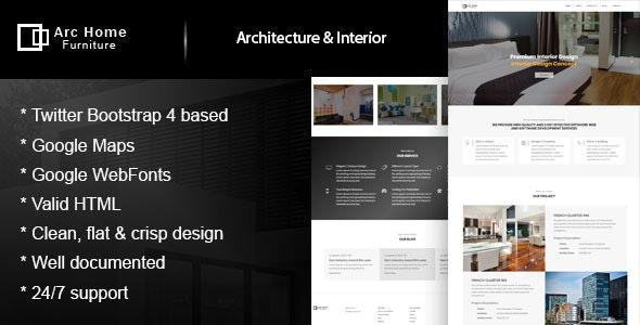 ArcHome - Architecture & Interior Design Template - Business Corporate