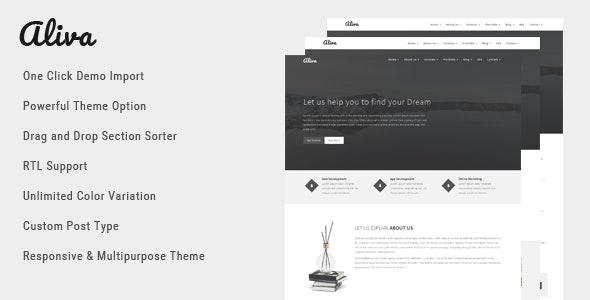 Aliva - Multipurpose WordPress Theme - Business Corporate