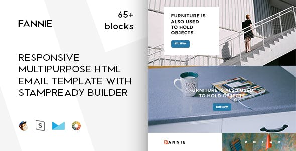 Fannie – 65+ Responsive Modules + StampReady, MailChimp & CampaignMonitor compatible files