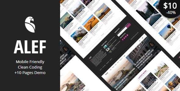 ALEF - Multipurpose Personal Blog Template - Personal Site Templates