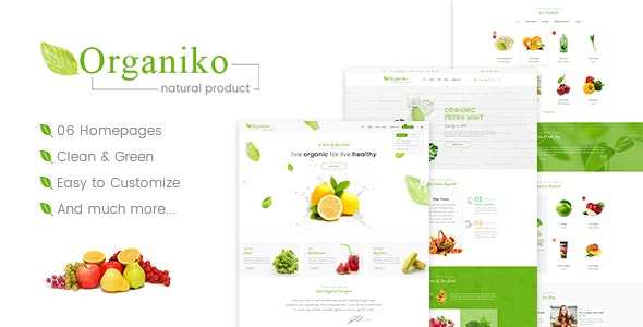 Organiko - Farm & Food Business WordPress Theme - Food Retail