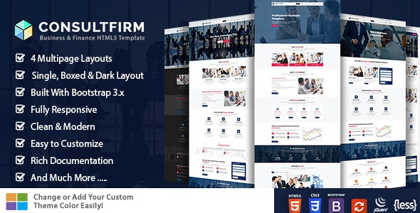 Consulting Finance - Corporate Site Templates