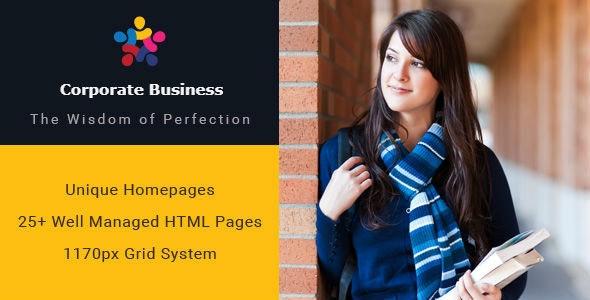 Corporate Business Multipurpose HTML Template - Site Templates